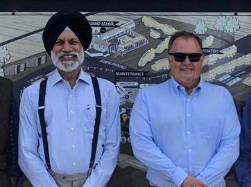 Jatinger Pal Singh Dhillion (CEO, Insight Aviation); Attie Niemann (CEO, 43 Air School)